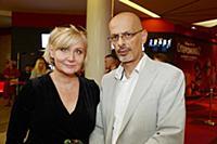 Алина Асси с супругом. Премьера фильма «Ночная сме