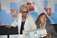 Ирина Громова, Никас Сафронов. Пресс-конференция п