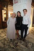 Елена Лядова с мамой и братом. Российская премьера