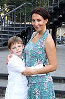 Алика Смехова с сыном Артемом. Москва. 5 сентября