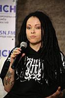 Дария Ставрович. Пресс-конференция, посвященная ко