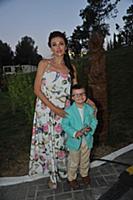 Эвелина Бледанс с сыном. 26-й Международный детски