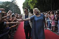 Яна Поплавская с супругом Евгением. Первый Открыты