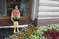 Диана Гурцкая. Фестиваль цветов в ГУМе. Москва, Ро