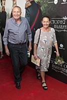 Андрей Смирнов с супругой. Премьера фильма «Истори