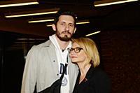 Эвелина Хромченко с супругом. Премьера фильма «Чел