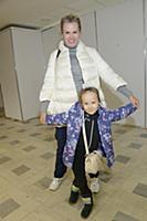 Наталья Ушакова с дочерью Леной. Открытие нового с