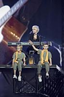 Диана Арбенина с детьми. 25-летие группы 'Ночные с