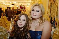 Наталья Палинова с дочерью Александрой. Юбилей Нат