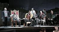 Актёры на сцене. Спектакль 'Спасти Хлестакова_?',