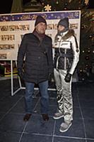 Камиль Ларин с супругой. Праздничное открытие ГУМ-