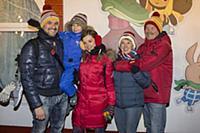 Екатерина Шпица с семьей. Праздничное открытие ГУМ