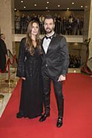 Денис Клявер с супругой. Церемония вручения Россий