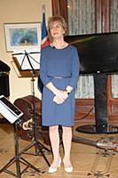 Берглинд Асгейрсдоттир (посол Исландии). Прием, по