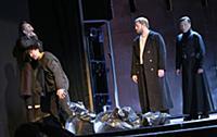 Актёры на сцене. Спектакль 'Макбет'. Театр на Мало