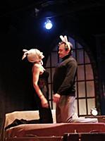 Актёры на сцене. Спектакль 'Супружеская жизнь'. Те