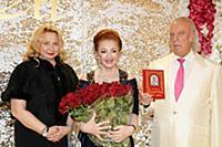 Лейла Адамян, Илья Резник с супругой Ириной. Юбиле