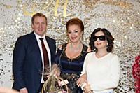 Лейла Адамян, Диана Гурцкая с супругом. Юбилей Лей