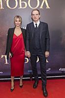 Андрей Бурковский с супругой. Премьера фильма «Тоб