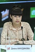 Диана Анкудинова. Пресс-конференция, посвященная т