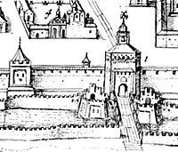 Башни Кремля в XVII веке. Москва.