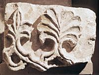 Резной камень. Фрагмент раннемосковской скульптуры