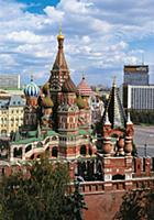 Вид с территории Кремля на Храм Василия Блаженного