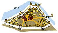 Московский Кремль в XIV веке. Москва.