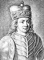 Князь Юрий Долгорукий. Западноевропейская миниатюр