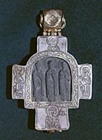 Крест-мощевик работы мастера Семена Золотникова. X