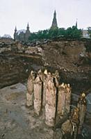 Крепостные стены времен Ивана Калиты. XIV век. Мос