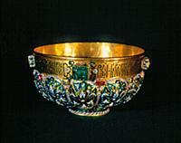 Золотая чаша из царского сервиза. XVII век. Москва
