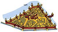 Московский Кремль в XVI веке. Москва.