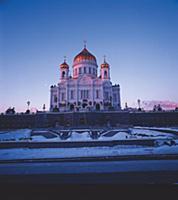 Воссозданный Храм Христа Спасителя. Конец 1990-х -