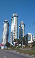 Высотные жилые дома «Три богатыря» на Юго-Западе М