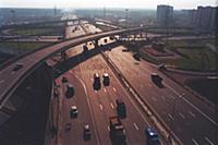 Одна из московских транспортных развязок. Конец 19