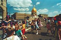 Детский праздник в Москве. Конец 1990-х - начало 2