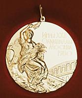Золотая Олимпийская медаль (копия). Конец 1990-х -
