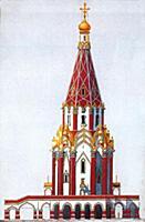 Реконструкция церкви Вознесения. Москва.