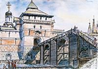 Крепостные ворота Китай-города. Москва.