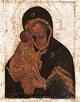 Икона Донской Божьей Матери. XV в.