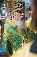 Патриарх Московский и Всея Руси Алексий II на служ