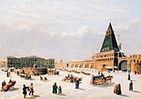 Вид Лубянской площади в начале XIX в.