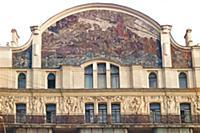 Панно Принцесса Грёза на фасаде гостиницы Метропол
