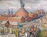 Пушечный двор в Москве. Художник А. Васнецов