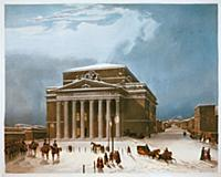 Большой (Петровский театр) Рисунок А.Пере 1825 г.