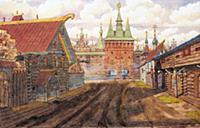 Покровские ворота Скородома в XVII в. Рекострукция