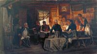 «Военный совет в Филях» в 1812 г. Худ. А.Кившенко