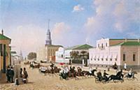 Выезд пожарной команды Пречистенской части. 1810-е