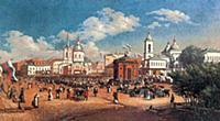 Ярмарка на Арбатской площади. 1877 год.